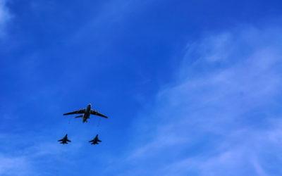 Самолеты над Лобней