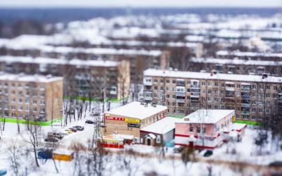 Макет Депо зимой